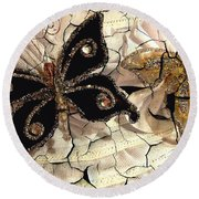 Grandmother's Brooches Round Beach Towel