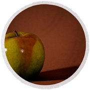 Round Beach Towel featuring the photograph Granny Smith by Sharon Elliott