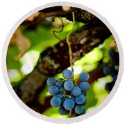 Grape Cluster Round Beach Towel