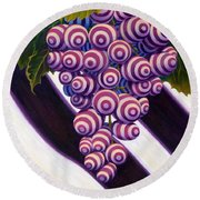 Grape De Menthe Round Beach Towel