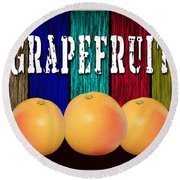 Grapefruit Round Beach Towel