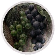 Aaron Berg Photography Round Beach Towel featuring the photograph Off The Vine by Aaron Berg