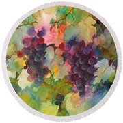 Grapes In Light Round Beach Towel