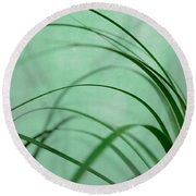 Grass Impression Round Beach Towel
