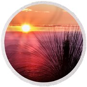 Grasstree Sunset Round Beach Towel