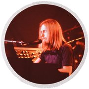 Round Beach Towel featuring the photograph Grateful Dead Concert - Brent Mydland by Susan Carella