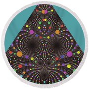 Round Beach Towel featuring the digital art Gravity And Magnetism by Mark Greenberg