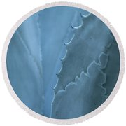Gray-blue Patterns Round Beach Towel