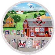 Great American Quilt Factory Round Beach Towel