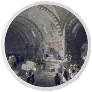 Great Avenue In The Tchartchi, C.1850 Round Beach Towel