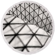 Great Court Abstract Round Beach Towel
