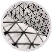 Round Beach Towel featuring the photograph Great Court Abstract by Rona Black