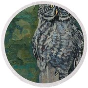 Great Gray Round Beach Towel by Phil Chadwick