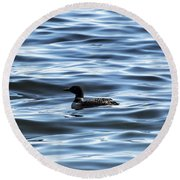 Great Northern Loon Round Beach Towel by Matt Molloy