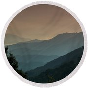 Round Beach Towel featuring the photograph Great Smoky Mountains Blue Ridge Parkway by Patti Deters