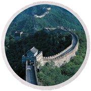 Great Wall Of China Beijing China Round Beach Towel