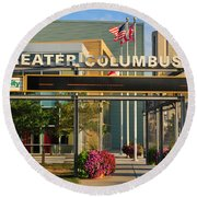 D8l-245 Greater Columbus Convention Center Photo Round Beach Towel