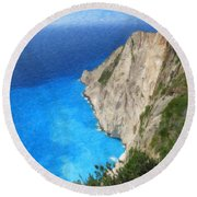 Greek Coast Grk4188 Round Beach Towel
