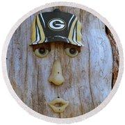 Green Bay Packer Humor Round Beach Towel by Kay Novy