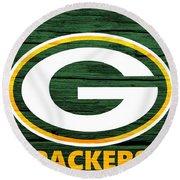Green Bay Packers Barn Door Round Beach Towel
