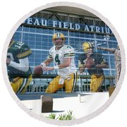 Green Bay Packers Lambeau Field Round Beach Towel