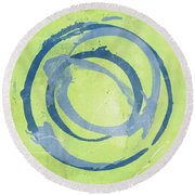 Green Blue Round Beach Towel