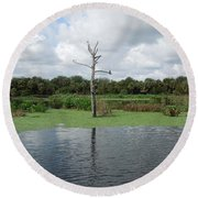 Round Beach Towel featuring the photograph Green Cay Panorama by Ron Davidson