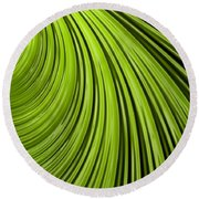 Green Flow Abstract Round Beach Towel