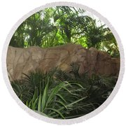 Round Beach Towel featuring the photograph Green Interiors Vegas Casinos Resorts Hotels by Navin Joshi