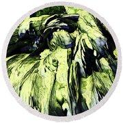 Round Beach Towel featuring the digital art Green by Matt Lindley