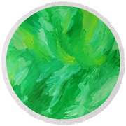 Green Mother Round Beach Towel