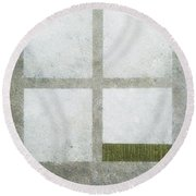 Green Painting 1 Round Beach Towel