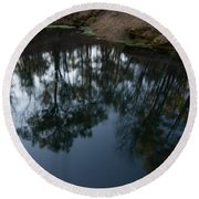 Round Beach Towel featuring the photograph Green Sink Reflection by Paul Rebmann