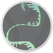 Green Spiral Evolution Round Beach Towel