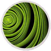 Round Beach Towel featuring the digital art Green Wellness by Gabiw Art