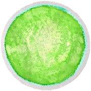Green World Original Painting Round Beach Towel