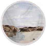 Greens Pool Western Australia Round Beach Towel