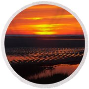 Round Beach Towel featuring the photograph Greetings by Dianne Cowen