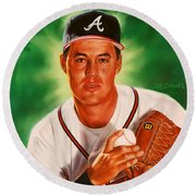 Greg Maddux Round Beach Towel