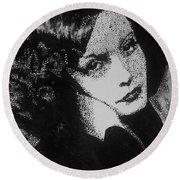 Greta Garbo Round Beach Towel