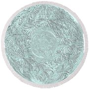 Grey Seal Round Beach Towel by Oksana Semenchenko