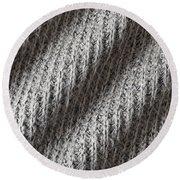 Grey Wool Round Beach Towel