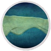 Greyhound Round Beach Towel by Sandy Keeton