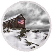 Greyledge Farm After The Storm Round Beach Towel