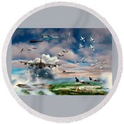 Griffiss Air Force Base Round Beach Towel by Dave Luebbert