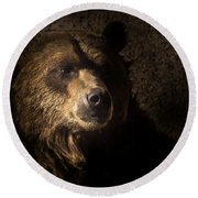 Grizzly 2 Round Beach Towel