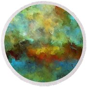 Grotto Round Beach Towel by Ely Arsha