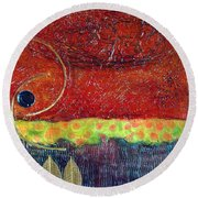 Grounded Round Beach Towel by Phyllis Howard