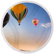 Group Of Balloons Round Beach Towel