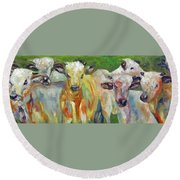 The Gathering, Cattle   Round Beach Towel